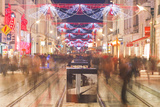 Rue Nationale in the City of Tours Full of Christmas Shoppers Photographic Print by Julian Elliott