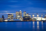 Panoramic View of London Skyline over the River Thames Featuring Canary Wharf Photographic Print by Ian Egner