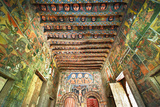Ancient Wall Paintings in the Interior of the Debre Birhan Selassie Church Fotografisk tryk af Gabrielle and Michel Therin-Weise