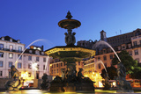 Illuminated Fountain at Night Photographic Print by Stuart Forster