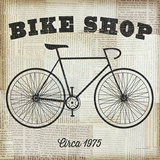 Bike Shop Poster par Michael Mullan