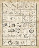 Geometric Chart I Poster von Hugo Wild