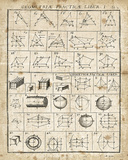Geometric Chart I Poster von Wild Apple Portfolio