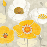 Sunshine Poppies II Square Posters by Diane Hoeptner
