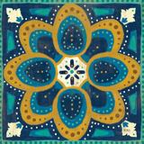 Proud as a Peacock Tile I Print by Veronique Charron