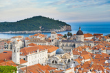 Dubrovnik Cathedral and Lokrum Island Elevated View Photographic Print by Matthew Williams-Ellis