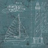 Coastal Blueprint III Posters par Marco Fabiano
