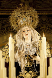 Image of Virgin Mary on Float (Pasos) Carried During Semana Santa (Holy Week) Fotodruck von Stuart Black