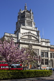 Victoria and Albert Museum with Cherry Blossom Trees Photographic Print by Stuart Black