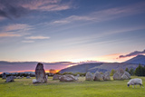 Castlerigg Stone Circle at Sunset Photographic Print by Julian Elliott