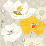 Sunshine Poppies I Square Prints by Diane Hoeptner