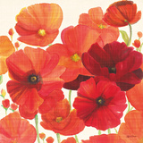 Red and Orange Poppies I Posters by Ellen Gladis
