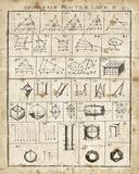 Geometric Chart II Kunstdrucke von Wild Apple Portfolio