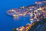 Dubrovnik Old Town at Night, Taken from Zarkovica Hill, Dalmatian Coast, Adriatic, Croatia, Europe Photographic Print by Matthew Williams-Ellis
