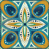 Proud as a Peacock Tile II Prints by Veronique Charron