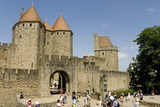 Porte D'Aude Through Outer Wall of Old City Photographic Print by Tony Waltham