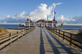 Historic Pier in Ahlbeck on the Island of Usedom Photographic Print by Miles Ertman