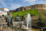 Statues and Fountains Below the Citadel of Erbil (Hawler) Photographic Print by Michael Runkel