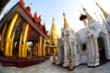 Fisheye Image of Temples and Shrines at Shwedagon Paya (Pagoda) Photographic Print by Lee Frost