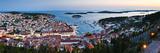 Hvar Town and the Pakleni Islands (Paklinski Islands) at Night Photographic Print by Matthew Williams-Ellis