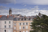 Looking over the Rooftops of Angers Towards the Cathedral, Angers, Maine-Et-Loire, France, Europe Photographic Print by Julian Elliott