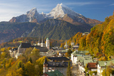 View over Berchtesgaden and the Watzmann Mountain, Berchtesgaden, Bavaria, Germany, Europe Photographic Print by Miles Ertman