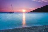Adriatic Sea Off Zlatni Rat Beach at Sunset, Bol, Brac Island, Dalmatian Coast, Croatia, Europe Fotografisk tryk af Matthew Williams-Ellis