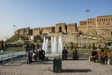 Huge Square with Water Fountains Below the Citadel of Erbil (Hawler) Photographic Print by Michael Runkel