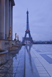 The Eiffel Tower under Rain Clouds, Paris, France, Europe Photographic Print by Julian Elliott