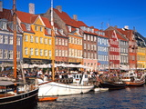 Waterfront District, Nyhavn, Copenhagen, Denmark, Scandinavia, Europe Fotografisk trykk av Gavin Hellier