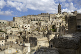View of the Duomo and the Sassi of Matera, from the Cliffside, Basilicata, Italy, Europe Photographic Print by Olivier Goujon