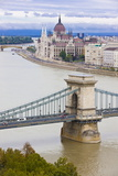 Chain Bridge across the Danube, Budapest, Hungary, Europe Photographic Print by Michael Runkel