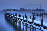 View of Frauen Island from the Shore of Lake Chiemsee, Bavaria, Germany, Europe Photographic Print by Miles Ertman