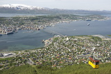 Tromso, Seen from Mount Storsteinen, Northern Norway, Scandinavia, Europe Photographic Print by Tony Waltham