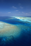 Aerial View of Tropical Island and Lagoon, Maldives, Indian Ocean, Asia Photographic Print by Sakis Papadopoulos