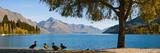 Autumnal Lake Wakatipu at Queenstown, Otago, South Island, New Zealand, Pacific Fotografisk trykk av Matthew Williams-Ellis