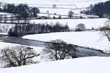 The River Wharfe Near Burnsall in Winter, Wharefdale, Yorkshire, England, United Kingdom, Europe Photographic Print by Mark Sunderland