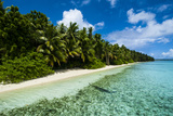 Paradise White Sand Beach in Turquoise Water on Ant Atoll, Pohnpei, Micronesia, Pacific Photographic Print by Michael Runkel