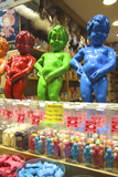 Manneken Pis Display in a Sweet Shop, Brussels, Belgium, Europe Photographic Print by Neil Farrin