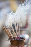 Incense Burning at Shwedagon Paya (Pagoda), Yangon (Rangoon), Myanmar (Burma), Asia Photographic Print by Lee Frost