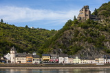 Castle Gutenfels Above Kaub in the Rhine Valley, Rhineland-Palatinate, Germany, Europe Photographic Print by Michael Runkel