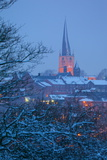 View of Town and Crooked Spire Church, Chesterfield, Derbyshire, England, United Kingdom, Europe Fotodruck von Frank Fell