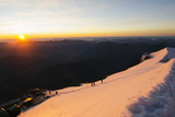 Sunset on Mont Blanc, Haute-Savoie, French Alps, France, Europe Photographic Print by Christian Kober