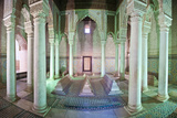 Interior of the Saadien Tombs, Marrakech, Morocco, North Africa, Africa Photographic Print by Matthew Williams-Ellis