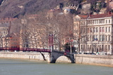The Passerelle Saint Georges and the River Saone, Lyon, Rhone-Alpes, France, Europe . Photographic Print by Julian Elliott