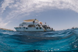 Dive Boats, Low Angle View, Ras Mohammed National Park, Red Sea, Egypt, North Africa, Africa Photographic Print by Mark Doherty