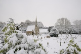 Box Cemetery Chapel after Heavy Snow, Box, Wiltshire, England, United Kingdom, Europe Photographic Print by Nick Upton
