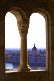 View of Hungarian Parliament Building from Fisherman's Bastion, Budapest, Hungary, Europe Photographic Print by Neil Farrin