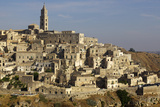 View of the Duomo and the Sassi of Matera, from the Cliffside, Matera, Basilicata, Italy, Europe Photographic Print by Olivier Goujon