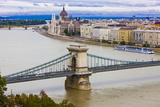 Chain Bridge across the River Danube, Budapest, Hungary, Europe Photographic Print by Michael Runkel